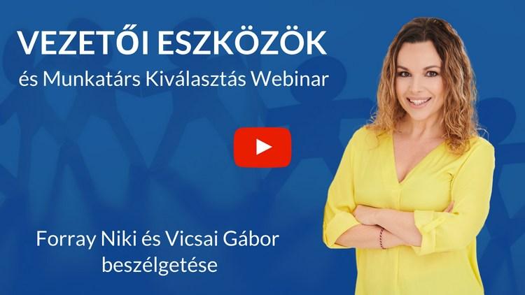 Vezetői Eszközök és Munkatárs Kiválasztás Webinar